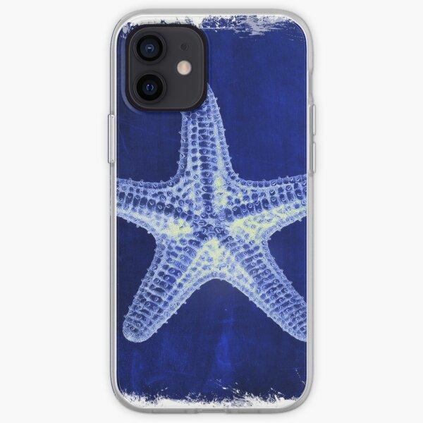 coastal seaside ocean navy blue beach chic starfish iPhone Soft Case