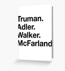Truman, Adler, Walker, McFarland - BLK Greeting Card