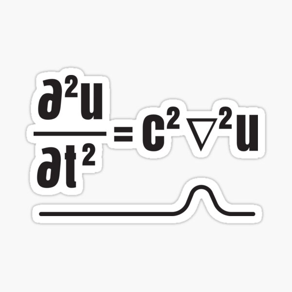 wave equation Sticker