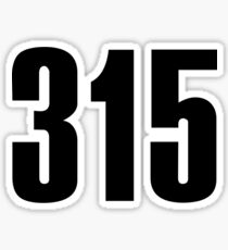 315 Syracuse | Phone Area Code Shirts Stickers Sticker