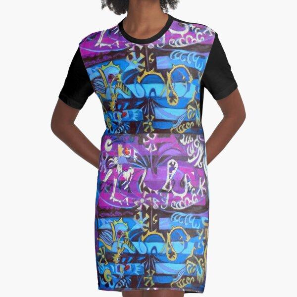Hexagram 6: Sung  (Creative Tension) Graphic T-Shirt Dress