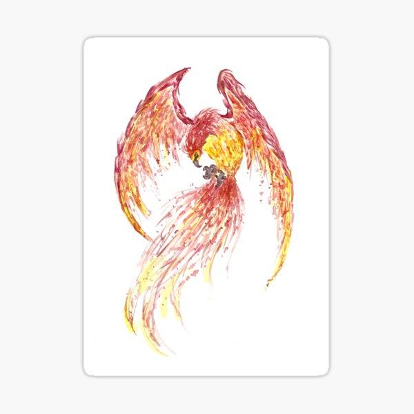 Phoenix Fawkes Sticker