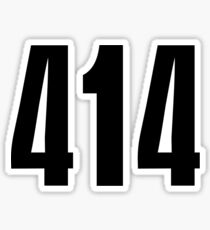 414 Milwaukee | Phone Area Code Shirts Stickers Sticker
