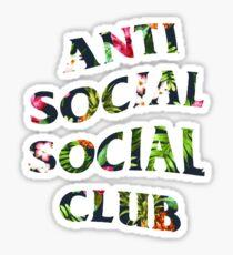 Anti Social Social Club Floral Sticker