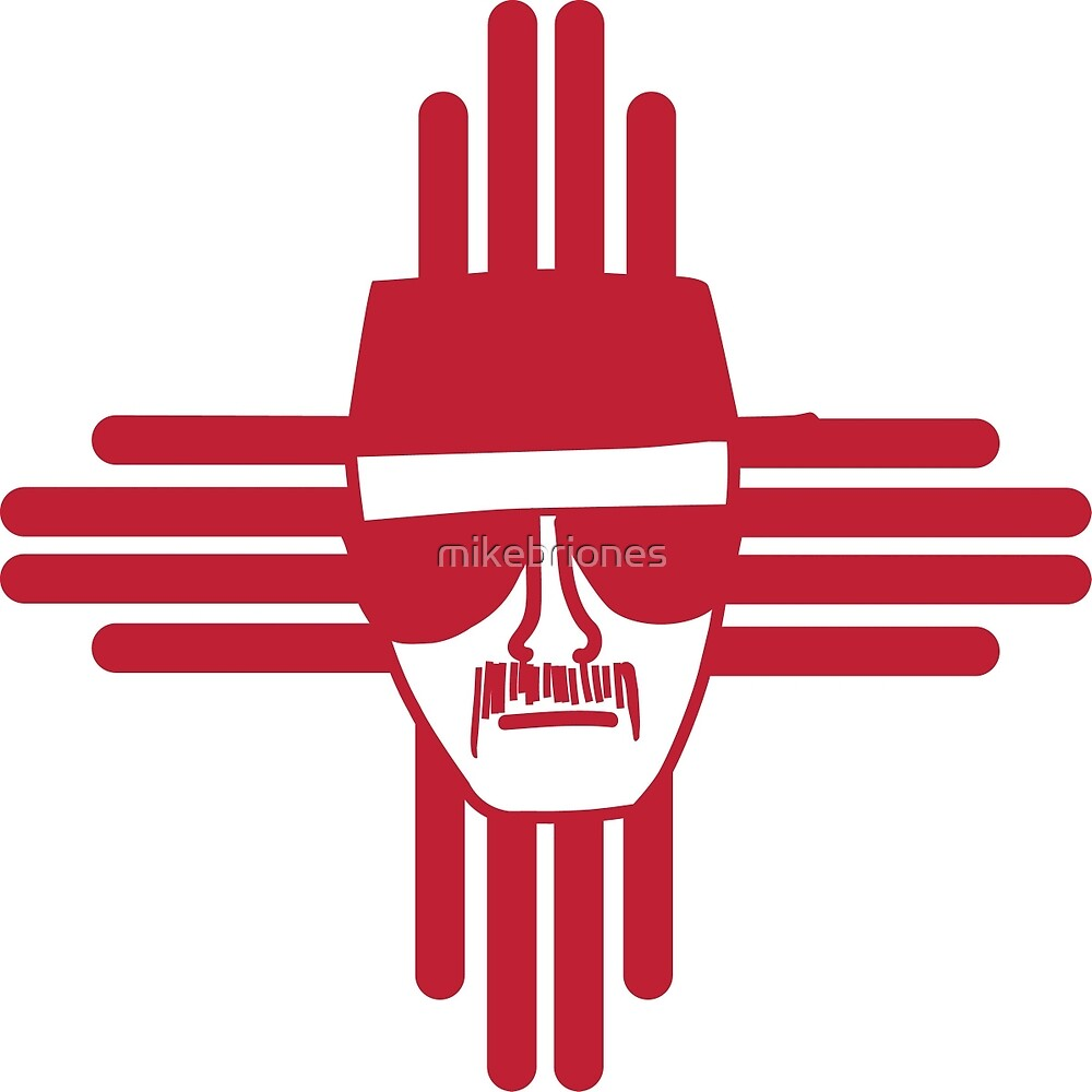 Heisenberg Zia Symbol New Mexico Flag By Mikebriones Redbubble