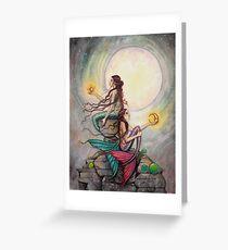 Gemini Mermaids Fantasy Art Illustration by Molly Harrison Greeting Card