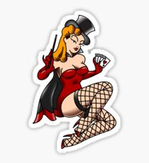 American Traditional Magician Girl Pin-up Sticker