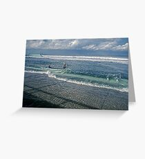 Spring Tide 1 at Newcastle Baths Greeting Card