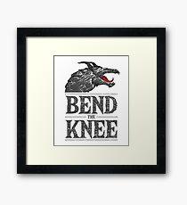 Bend the Knee - Black Framed Print