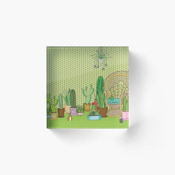 Urban Jungle Acrylic Block