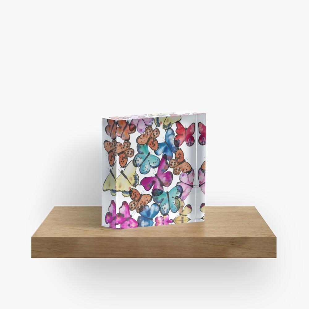 Butterfly Dance Acrylic Block