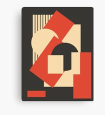 Geometrical abstract art deco mash-up 1 Canvas Print