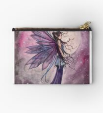 Starlit Amethyst Celestial Fairy Fantasy Art by Molly Harrison Studio Pouch