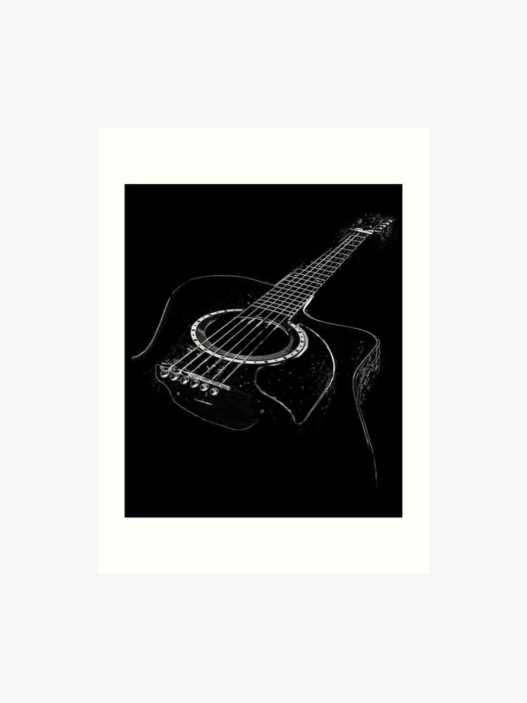 Acoustic Guitar Design Art
