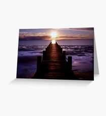 Jetty Lines Greeting Card