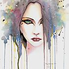 The Psychic Woman Fantasy Watercolor Art by Molly Harrison by Molly  Harrison