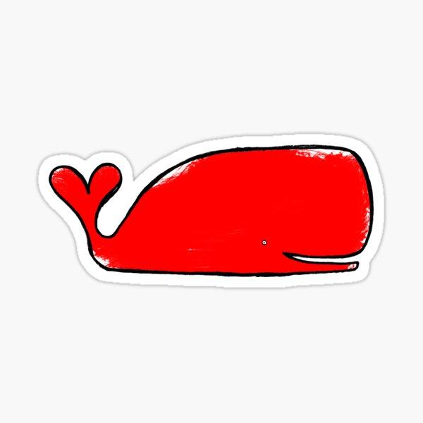 Valentine Whale Sticker
