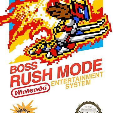 BOSS RUSH MODE Classic NES Box by VortexDesigns