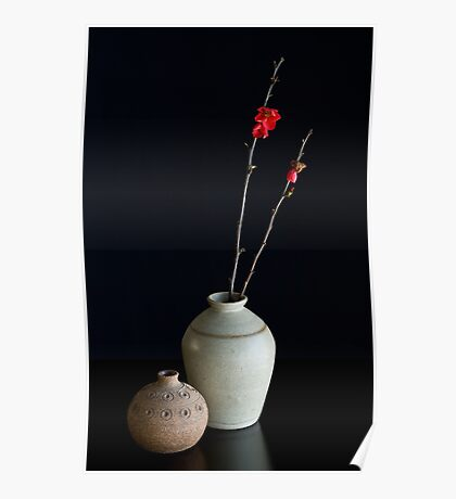 Vases With Japonica Poster