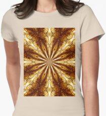 Gold Brown Sun Earth Eight Rays Kaleidoscope  T-Shirt