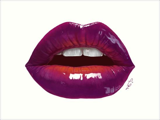 Sexy purple lips