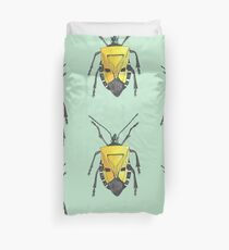Yellow insect drawing Duvet Cover