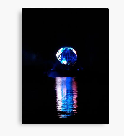 Glowing World Canvas Print