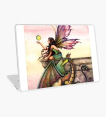 Dragons Orbs Fairy and Dragon Art by Molly Harrison Laptop Skin