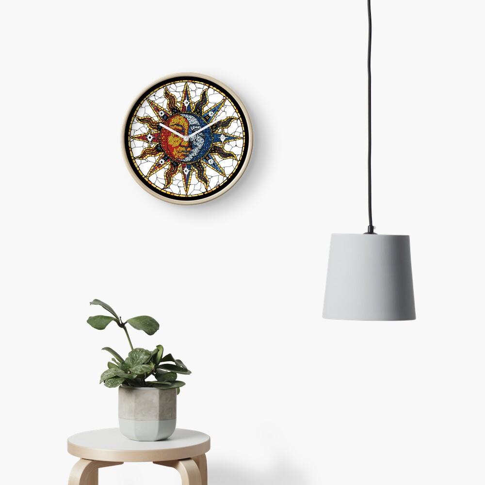 Celestial Mosaic Sun and Moon COASTER Clock