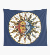 Celestial Mosaic Sun and Moon COASTER Wall Tapestry