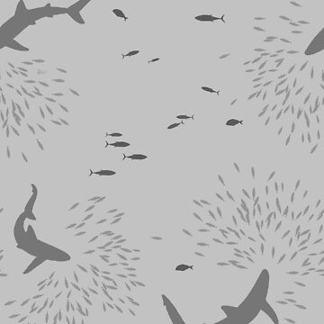 Sharks and fishes - Grey by jenrichards