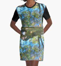 Puddle Art Graphic T-Shirt Dress