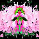Pink and Green Abstract. by Forfarlass