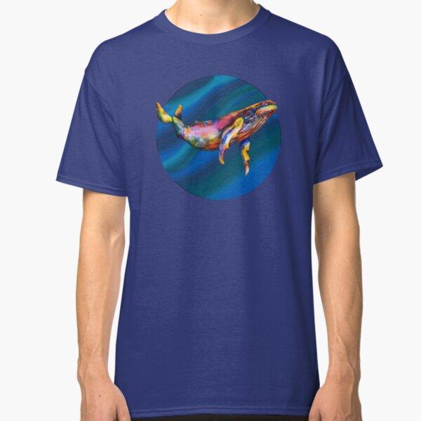 Humpback Bright on Pool of Blue Classic T-Shirt