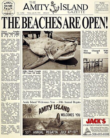 Jaws - Zeitung Vorderseite von ebbhead40