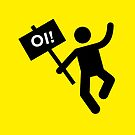 Angry placard man! OI! by iconymous