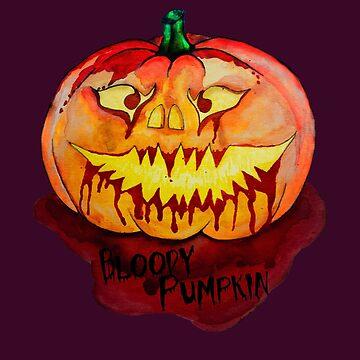 Bloody Pumpkin - Halloween by SteffiVioletta