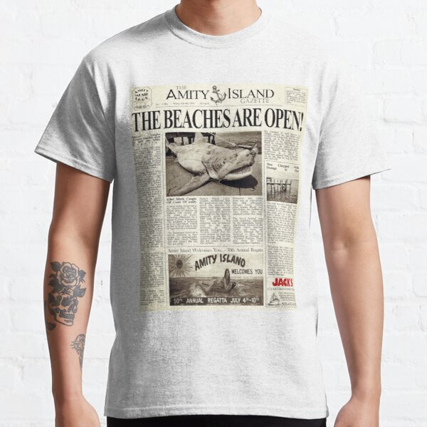 Jaws - Newspaper Front Page Classic T-Shirt