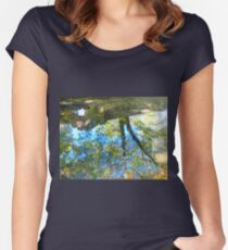 Puddle Art Women's Fitted Scoop T-Shirt