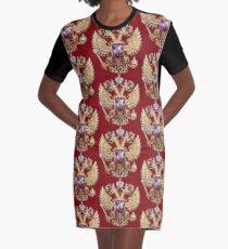 Russian Coat Of Arms Graphic T-Shirt Dress
