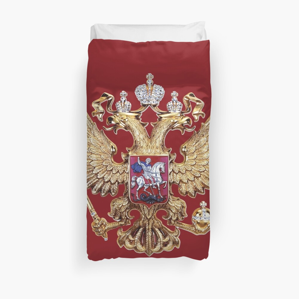 Russian Coat Of Arms Duvet Cover