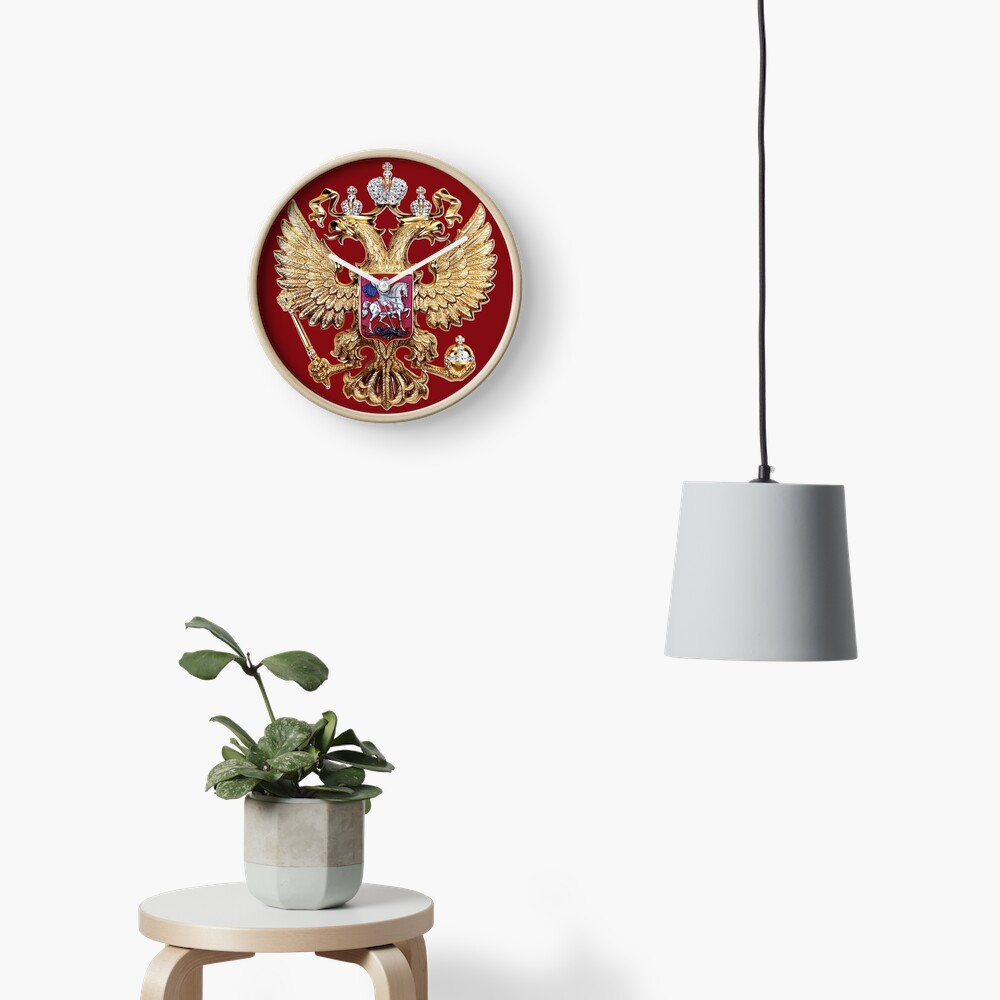 Russian Coat Of Arms Clock