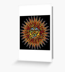 Psychedelic Sun Greeting Card