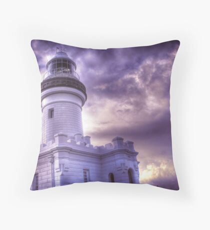 Byron Lighthouse HDR Throw Pillow
