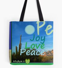 Earth Moon Peace Tote Bag