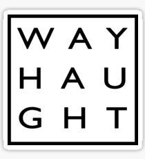 Wayhaught Minimalist - Black Sticker