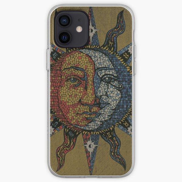 Vintage Celestial mosaic Sun & Moon iPhone Soft Case