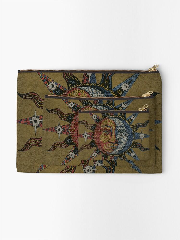Vista alternativa de Bolsos de mano Vintage Celestial mosaic Sun & Moon