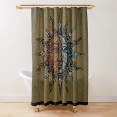 Vintage Celestial mosaic Sun & Moon Shower Curtain