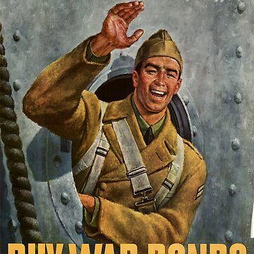 Vintage poster - Buy War Bonds by mosfunky